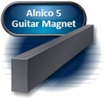 "Alnico Rectangular Bar Guitar Magnet, 2.500"" x .125"" x .500"""