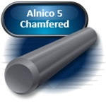 "Alnico Round Bar Guitar Magnet, .189"" x .640"" Chamfered"