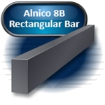 "Alnico 8B - Rectangular Bar, Cast, .625""W x 4.00"" LG (M) x .625"" THK"