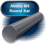 "Alnico 8H - Round Bar, Ground, .500"" DIA x .250"" LG (M)"