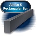 "Alnico 5 - Rectangular Bar, Cast, 2.500"" X 0.125"" X 5.00""(S)"