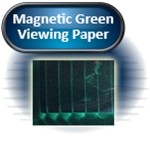 "Magnetic Green Viewing Paper, Laminated, 6""x 6"""