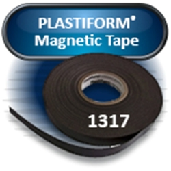 "PLASTIFORM® 1317 Magnet Tape, 0.060""x .1.0""x100' with Adhesive (1 roll/pkg)"