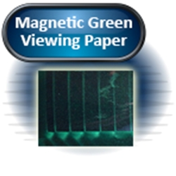 "Magnetic Green Viewing Paper, Laminated, 4""x 6"""
